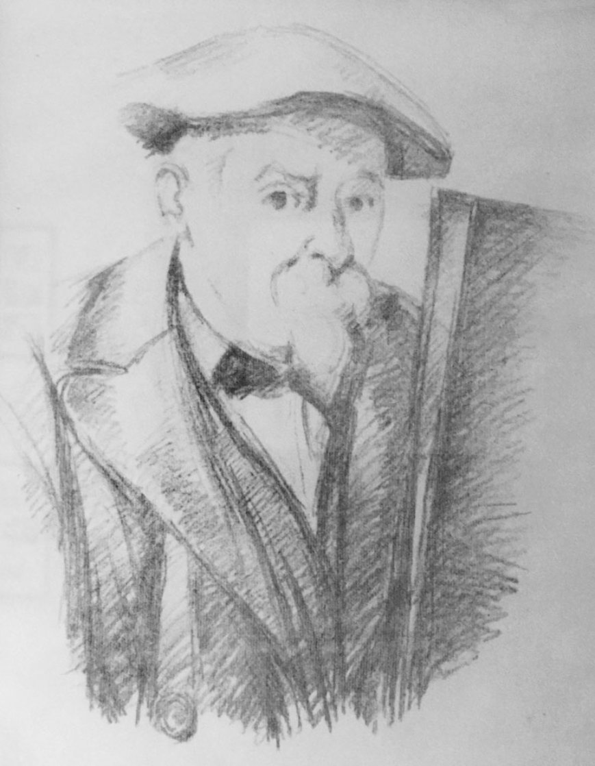 Self Portrait 1896 Limited Edition Print by Paul Cezanne