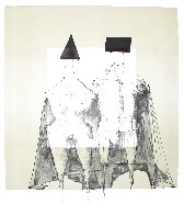 Quattro Litographie (Four Lithographs) 1973 Other by Lynn Chadwick - 5