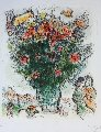 Multicolored Bouquet 1975 Limited Edition Print - Marc Chagall