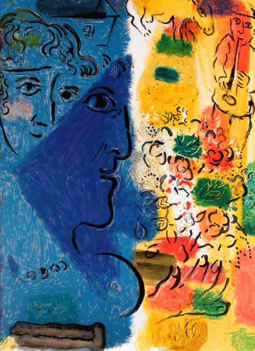 Blue Profile Poster 1967 HS Limited Edition Print by Marc Chagall