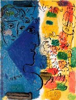 Blue Profile Poster 1967 HS Limited Edition Print by Marc Chagall - 1