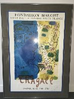Blue Profile Poster 1967 HS Limited Edition Print by Marc Chagall - 2