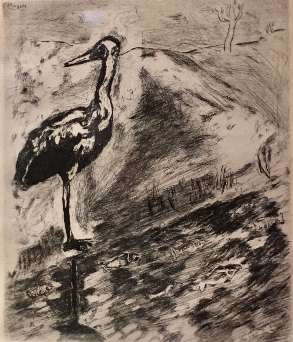 <br />Le Heron From Jean De La Fontaine from Fables of Fontaine 1952 Limited Edition Print by Marc Chagall