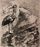 <br />Le Heron From Jean De La Fontaine from Fables of Fontaine 1952 Limited Edition Print by Marc Chagall - 0