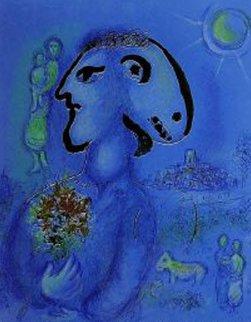 Le Bleu Village M. 729 AP 1972 HS Limited Edition Print - Marc Chagall