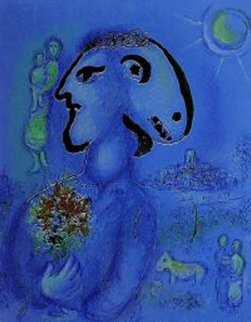 Le Bleu Village M. 729 AP Limited Edition Print by Marc Chagall