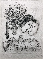 Double Visage Gris 1974 HS Limited Edition Print by Marc Chagall - 5
