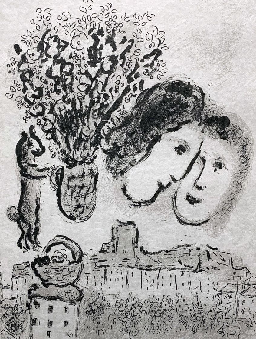 Double Visage Gris 1974 HS Limited Edition Print by Marc Chagall