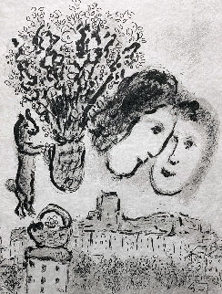 Double Visage Gris 1974 Limited Edition Print by Marc Chagall