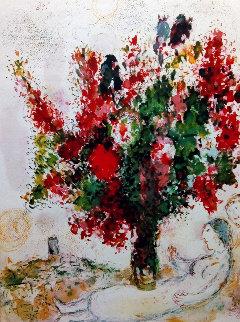 Bouquets Pour Les Amoureux 1972 HS Limited Edition Print - Marc Chagall