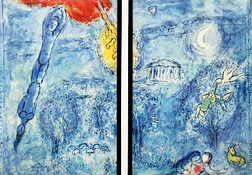 Homage a Ravel Diptych Limited Edition Print - Marc Chagall