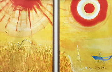 Cornfield on a Summer Afternoon Diptypch Limited Edition Print by Marc Chagall
