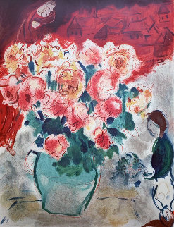Le Bouquet 1955 HS Limited Edition Print - Marc Chagall