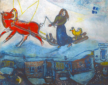 Le Cheval Rouge 1954 Limited Edition Print by Marc Chagall