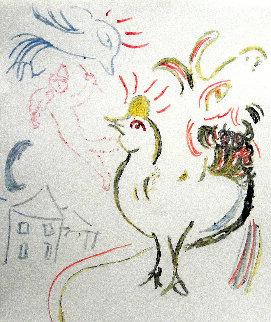 Coq, Chèvre Et Fidèle - Etape II AP Limited Edition Print - Marc Chagall