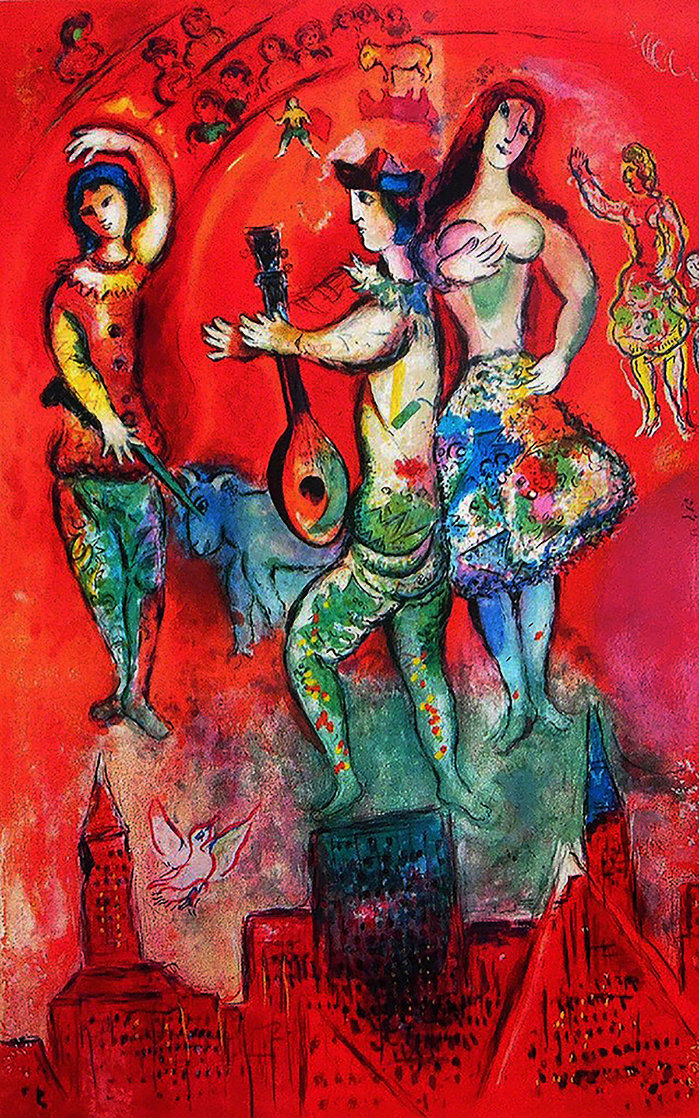 Carmen Poster 1962 Huge Limited Edition Print by Marc Chagall