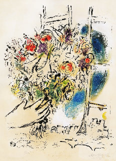 Bouquet of Flowers Limited Edition Print - Marc Chagall