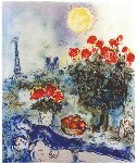 Lover in Paris  Limited Edition Print - Marc Chagall