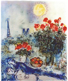 Lover in Paris   - Marc Chagall