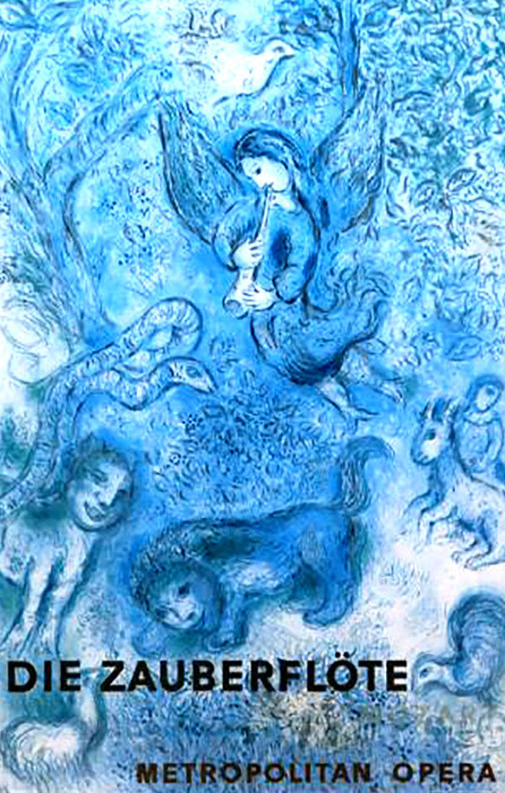 Magical Flute Metropolitan Poster (Blue) 1967 Limited Edition Print by Marc Chagall