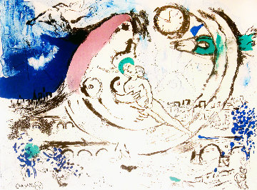 Paysage Bleu 1960 Limited Edition Print by Marc Chagall