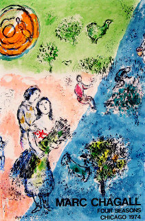 Four Seasons Poster 1974 Limited Edition Print by Marc Chagall