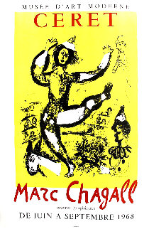 Ceret Poster (Circus) 1968 Limited Edition Print by Marc Chagall