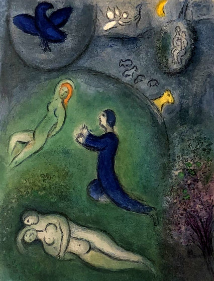 Daphnis & Lycenion 1961 by Marc Chagall