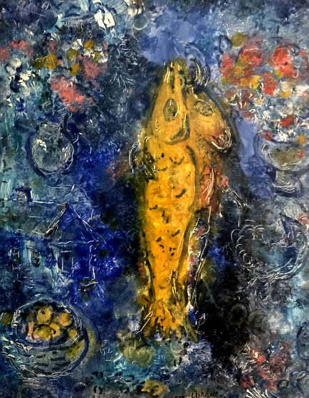 Le Poisson Jaune 1965 25x28 by Marc Chagall