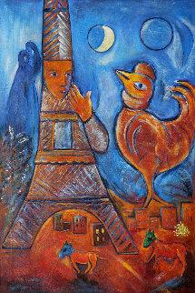 Bonjour Paris Poster Other - Marc Chagall