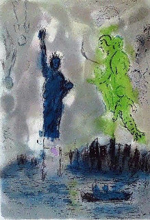 Statue of Liberty Poster 1982 Limited Edition Print by Marc Chagall