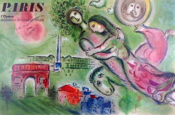 Romeo And Juliet, Paris l'Opera  1964 Limited Edition Print - Marc Chagall