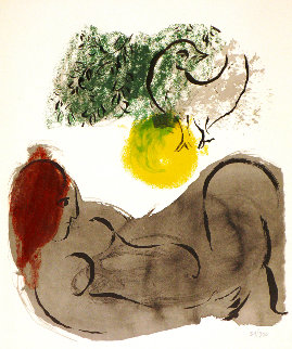 Colour Amour, Nu a l'Oiseau  Limited Edition Print - Marc Chagall