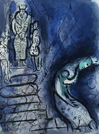 Assuerus Chasse Vasthi   M251 1956   Limited Edition Print by Marc Chagall