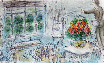 L 'Atelier a Saint Paul 1974 Limited Edition Print - Marc Chagall