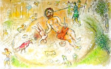 L'Odyssee Suite: Polyphemus  1975 Limited Edition Print - Marc Chagall