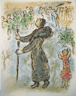 L'Odyssee Suite: Ulysses Disguised As a Beggar   1975 Limited Edition Print - Marc Chagall
