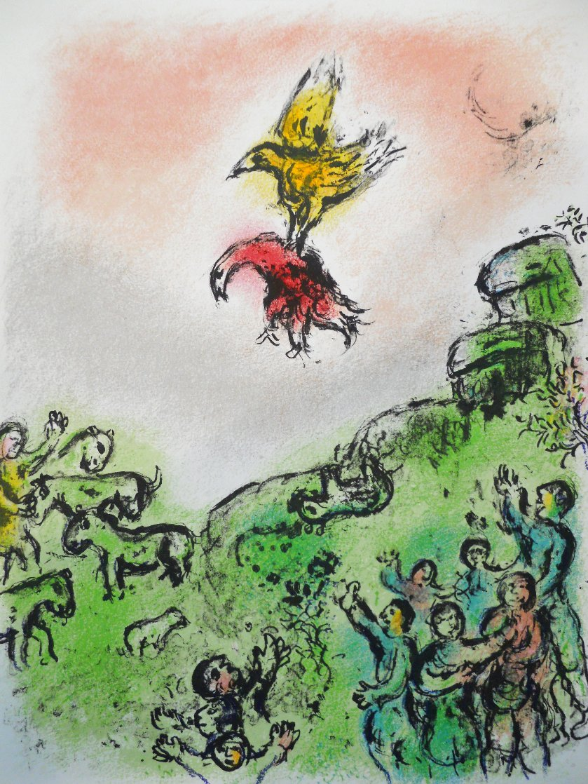 L'Odyssee Suite: The Omen, the Goshawk and Dove  1975 Limited Edition Print by Marc Chagall