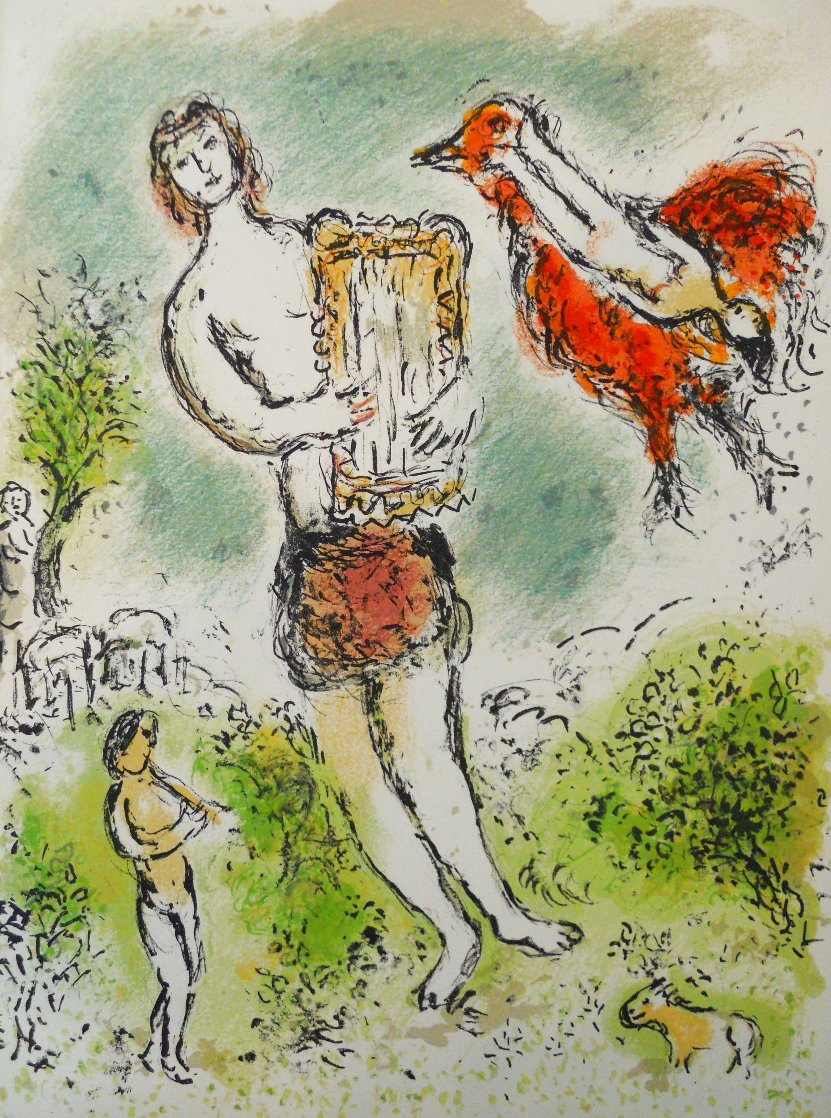 L'Odyssee Suite: Theoclymenus   1975 Limited Edition Print by Marc Chagall
