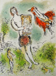 L'Odyssee Suite: Theoclymenus   1975 Limited Edition Print - Marc Chagall