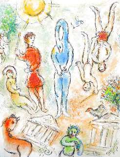 L'Odyssee Suite: In Hell   1975 Limited Edition Print - Marc Chagall