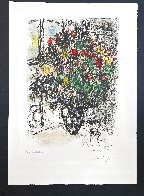 Le Bouquet Rouge 1969 Limited Edition Print by Marc Chagall - 2