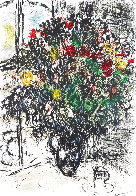Le Bouquet Rouge 1969 Limited Edition Print by Marc Chagall - 0