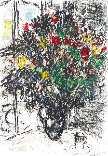 Le Bouquet Rouge 1969 Limited Edition Print - Marc Chagall