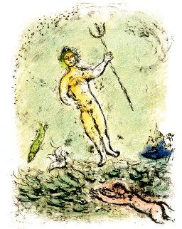 Odyssey II: Poseidon  Limited Edition Print - Marc Chagall