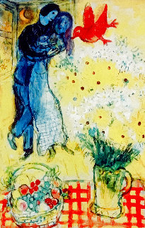 Les Amoureux Limited Edition Print - Marc Chagall