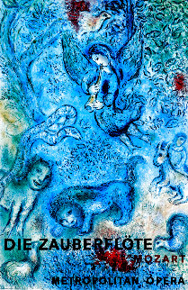 Magical Flute Metropolitan Poster (Blue) 1967 Limited Edition Print - Marc Chagall