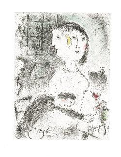 Celui Qui Dit Les Choses Sans Rien Dire (Plate 23) Limited Edition Print - Marc Chagall