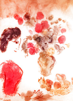 Vava in a Red Blouse 2002 Limited Edition Print - Marc Chagall