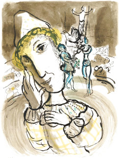 Le Cirque Au Clown Jaune  (Circus With the Yellow Clown) 1978 HS Limited Edition Print - Marc Chagall